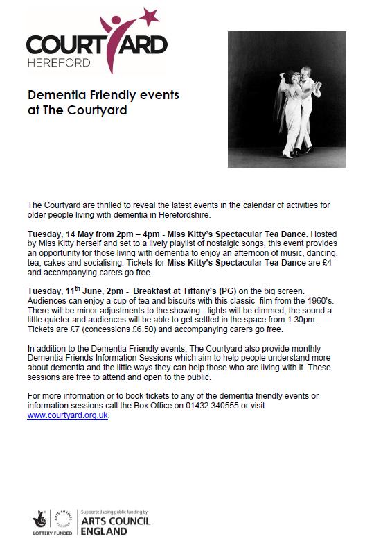 Courtyard Dementia Friendly Events - Breakfast at Tiffany's